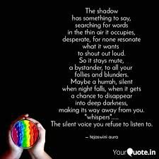 If Your Shadow Has A Voice     | Wrytin